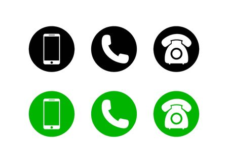 Mobile phone icon on isolated background.Set of call icon and telephone, smart in flat style for web.vector illustration eps10 Иллюстрация