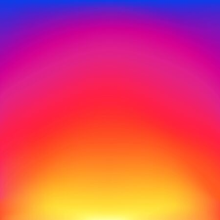 Abstract blurred gradient background with glow blue, red, purple and yellow color. Trendy vibrant art background with blur color. vector illustration Ilustração
