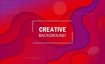Abstract modern background with purple graphic element. Graphic abstract banner with flowing liquid wave. Template for background of website, landing page. Vivid trendy abstract background. vector Ilustração