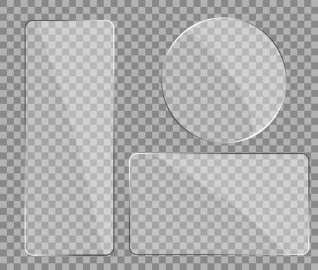 Texture de verre avec effet de réflexion dans un style maquette. Éblouissement réaliste sur le verre. Cadre de fenêtre d'écran numérique avec zoom et effet brillant.Écran en plastique pour téléphone, verre miroir.illustration vectorielle eps10