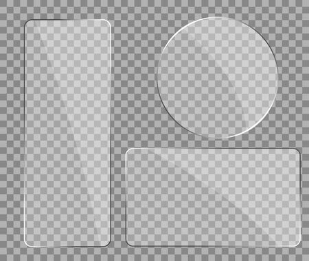 Texture of glass with reflection effect in mockup style. Realistic glare on glass. Digital screen window frame with zoom and glossy effect.Phone plastic screen, mirror glass.vector illustration eps10