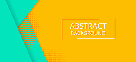 Yellow abstract background for sale. Design offer layout, color banner. Special price coupon template. Discount poster with stripe, dots. Abstract graphic backdrop. Fashion stripes pattern. vector