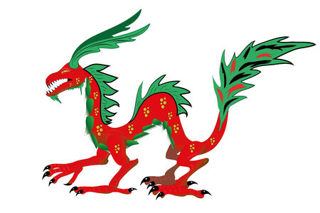 Chinese dragon.Illustration. Vector. Stock Vector - 8604670
