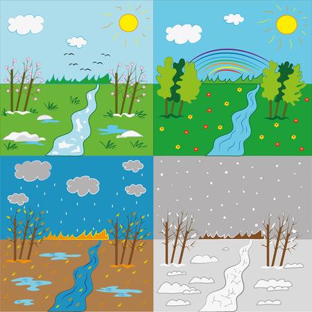 Time season or environment .Illustration.Vector. Illustration
