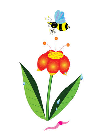 Bumblebee and a flower.