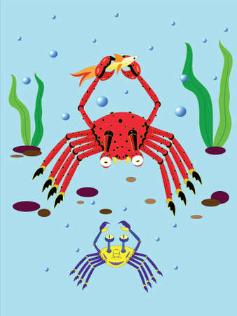 Amusing crabs. Stock Vector - 9214184