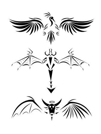 Tattoos of monsters Illustration