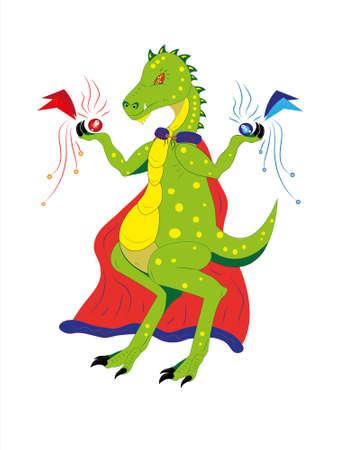 Dinosaur the magician.