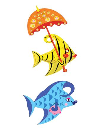 Fishes of the beauty. Stock Vector - 9826257