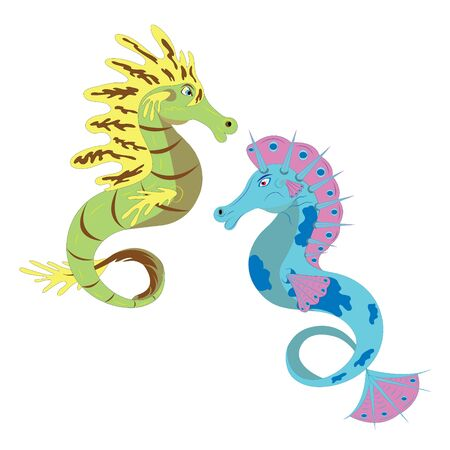 Two sea horses. Stock Vector - 9826259