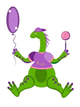dinosaur the child. Illustration