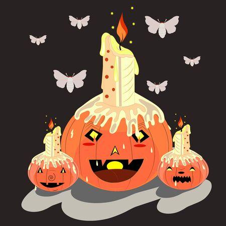 candlestick a pumpkin.