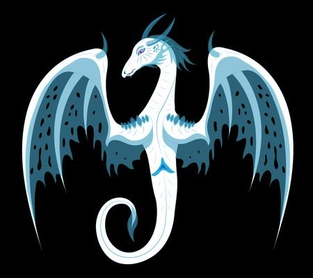 White dragon of ice