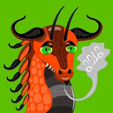 red dragon the pretty girl. Stock Vector - 11542126