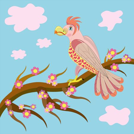 Pink enamoured parrot.