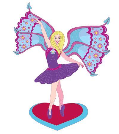 The beautiful fairy the ballerina Illustration