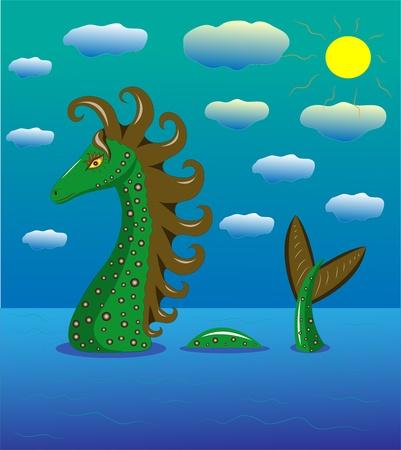 Sea dragon in the sea