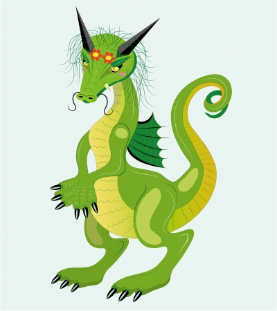 Timid dragon girl  Stock Vector - 14182699