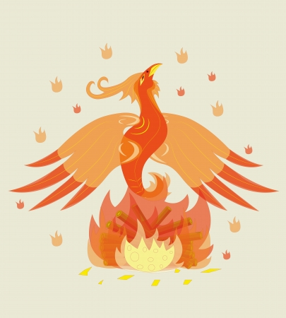 Birth of a young phoenix.