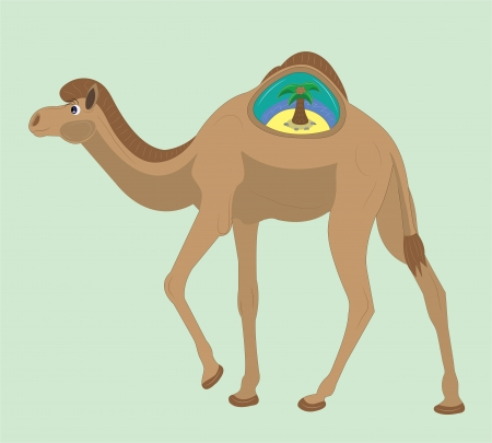 Camel and the island in a hump.