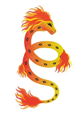 Fiery snake Stock Vector - 16121337