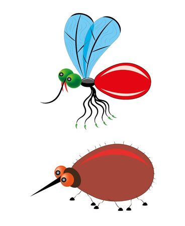 Mosquito and tick Stock Vector - 17880719