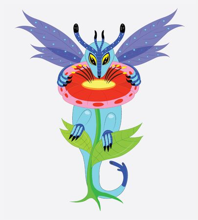 eats: The dragon eats pollen