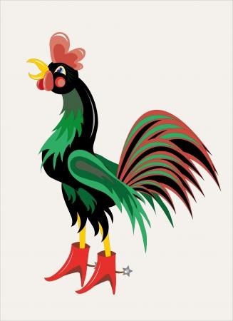 Black rooster Illustration