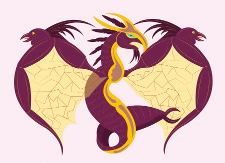 Fantastic dragon bird