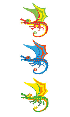 Little magic dragons Vector