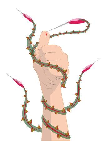 abstrakce: Abstrakce Odběr krve Ilustrační vektoru