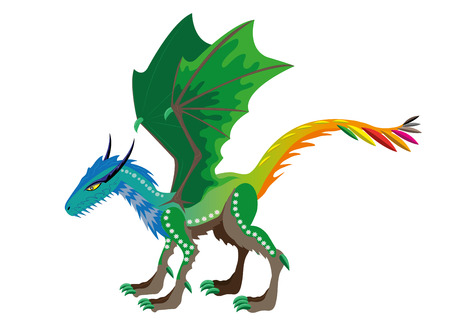 Dragon of seasons. Vector