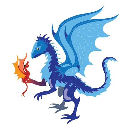Ice dragon and fiery dragon.