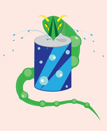 viper: The horned viper drinks water