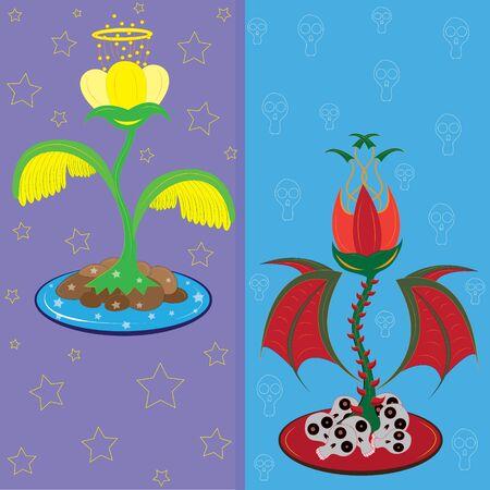 nimbus: Fantastic angelic and devil flowers