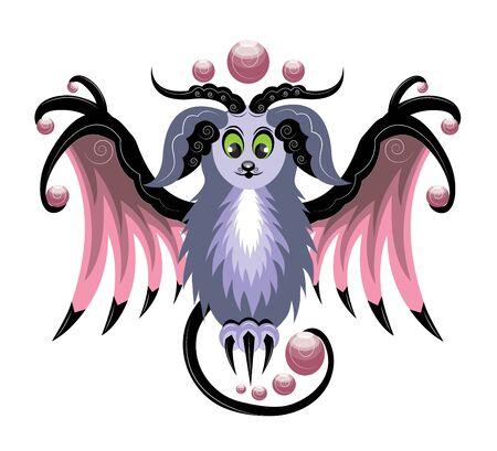 Magic ram with wings Stok Fotoğraf - 85715757