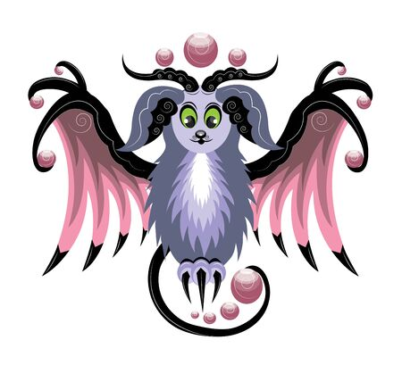 Magic ram with wings Illustration