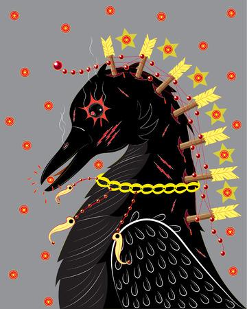 Black raven Çizim
