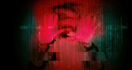 Cyber Security concept dark web hooded hacker