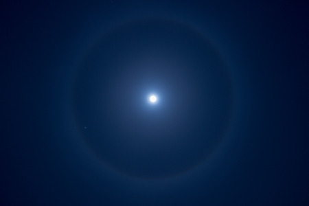 halo: Moon halo Stock Photo