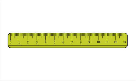 Yellow ruler icon. Simple illustration of ruler vector icon for web design isolated on white background. Education theme vector illustration for sign, stamp, logo, label, icon, poster Logo
