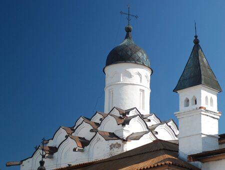 ortodox: white church and blue sky