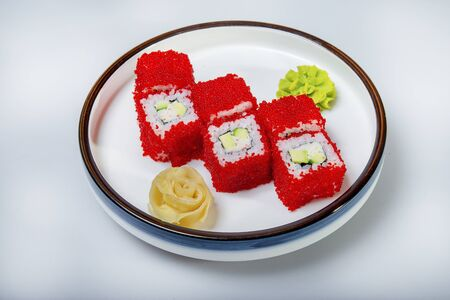 California Rolls With Ginger And Wasabi