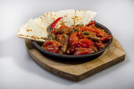 Vegetable Stew With Pieces Of Tortilla