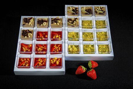 Set Of Various Mini Desserts