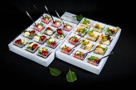 Set Of Various Appetizers And Snacks Stock Photo