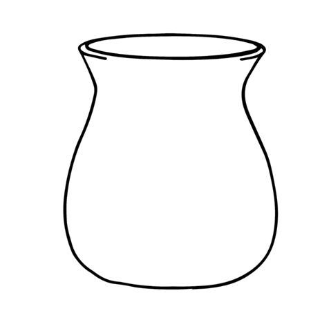 Vector illustration of a jug or container for milk or water. Hand drawn illustration cartoon flat line art icon isolated on white background.