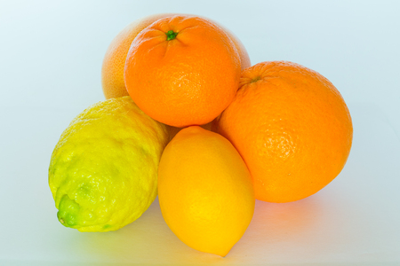 rugger: Lemons, Orange and tangerine Stock Photo