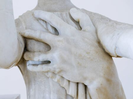 The hand that stole Palladium in the National Archaeological Museum, Sperlonga / Italy. December 14, 2019.