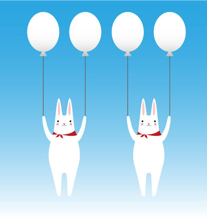 rabbits and balloons